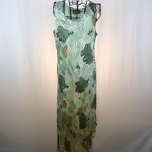 Simply Silk silk blend sleeveless maxi dress XL